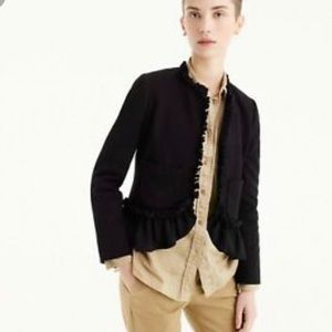 J Crew The Going Out Blazer With Ruffles sz 12
